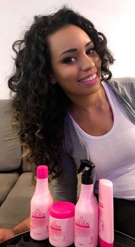 kit-new liss hair 4 produtos-linha para cabelos cacheados