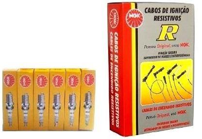 kit ngk jogo  vela +jogo cabo de vela blazer/s10 4.3 v6 ngk
