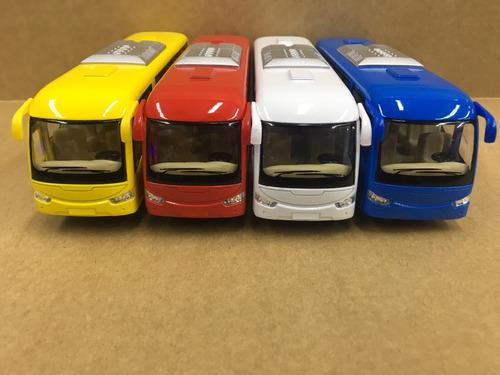 kit ônibus coach com 4 unidades quatro cores