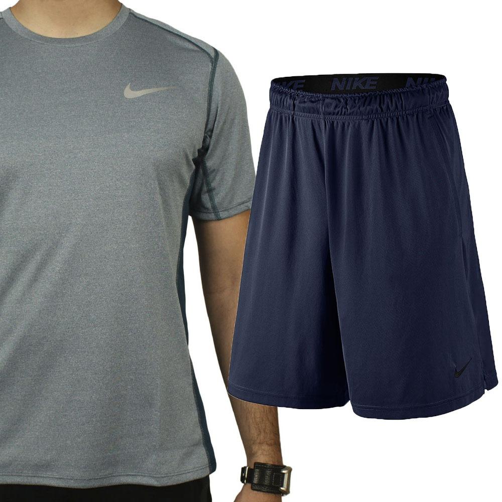 Kit Nike Academia Camiseta Tecn. Dry +short Masculino Oferta - R ... a8c997e15be99