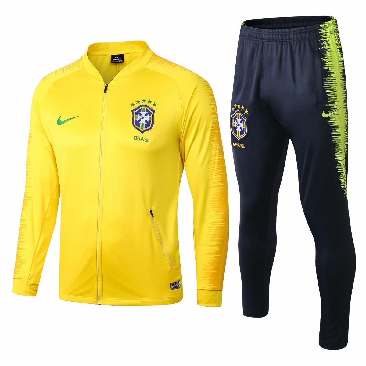 72b0f482ae kit nike brasil jaqueta + calça 2018 19. Carregando zoom.