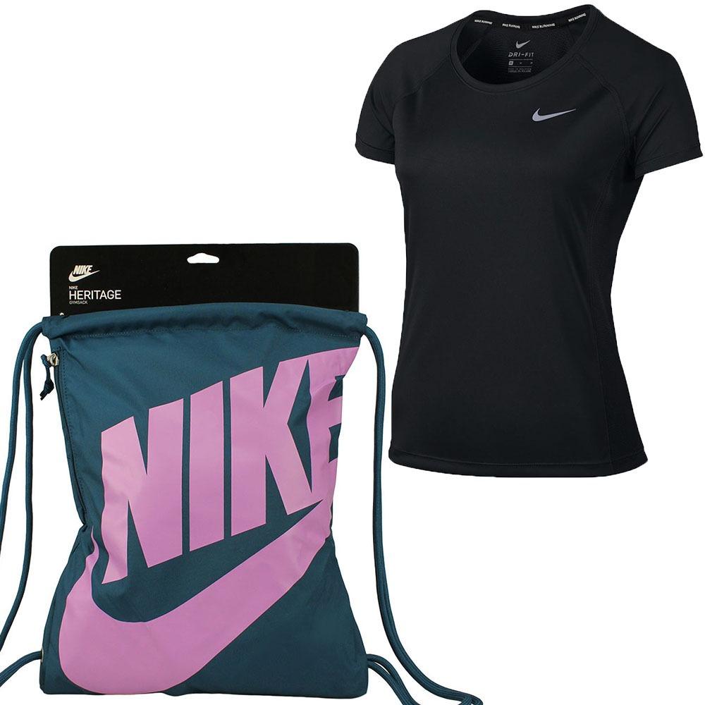 dc1c98be0deb6 Kit Nike Feminino Camiseta Dry Top Academia + Sacola Oferta! - R ...