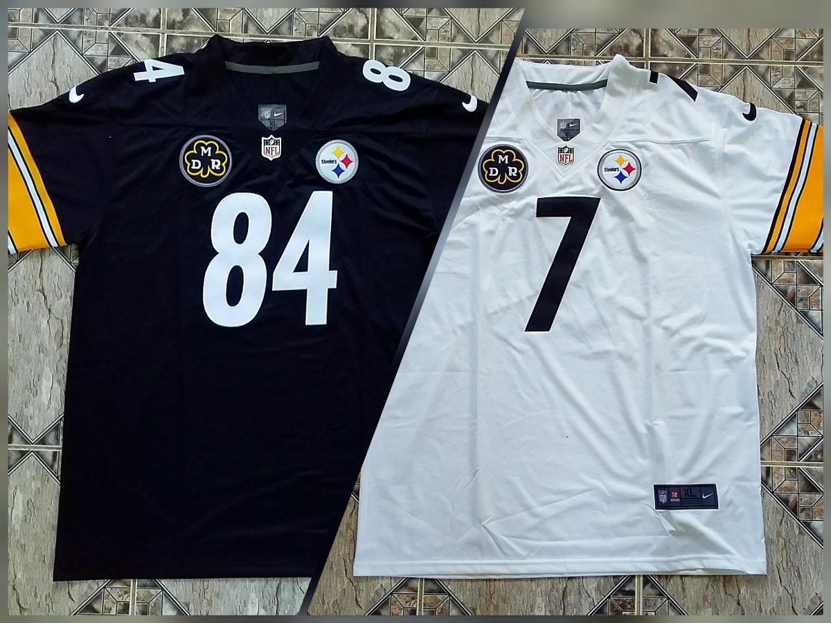 brand new 13687 e014f Kit Nike Steelers Antonio Brown #84 Roethlisberger #7