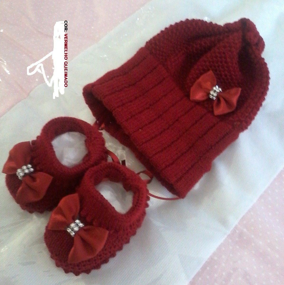Kit Nina Baby (sapatinho E Touca Com Laços) - R  44 45e93468007