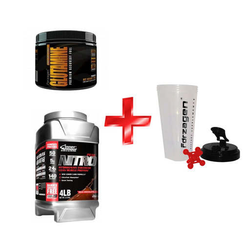 kit nitro charge proteina +1 shaker nutrition systems