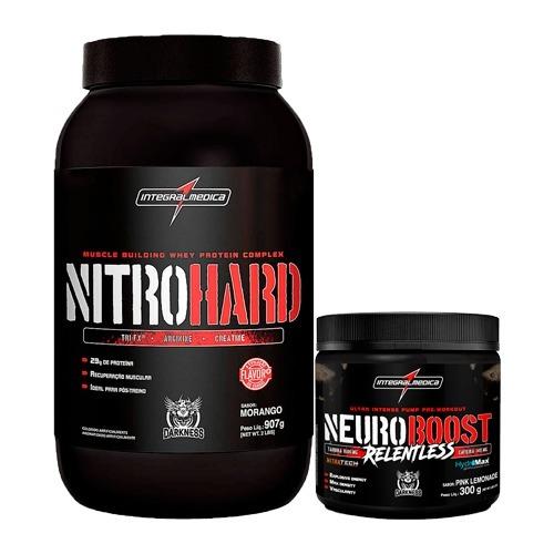 2574c00ec Kit Nitro Hard 907g + Neuroboost Relentless 300g Darkness - R  203 ...