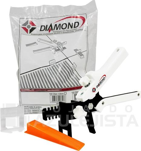 kit nivelador de piso, azulejo e porcelanato k1000 - diamond