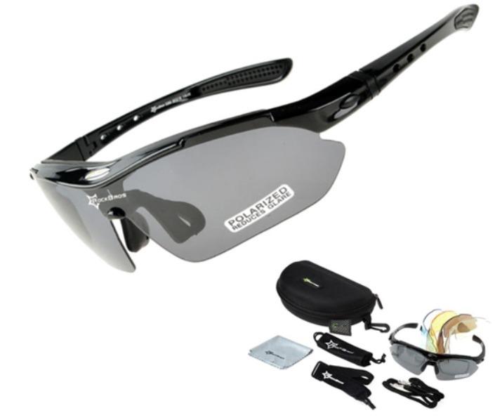7536193ed28f6 Kit Óculos 5 Lentes Polarizado Rockbros Ciclismo Bike - R  120