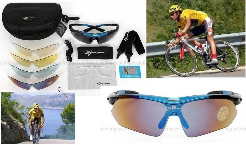 7bd6f0151852f kit óculos 5 lentes uv400 esportivo ciclismo corridas mtb. Carregando zoom.
