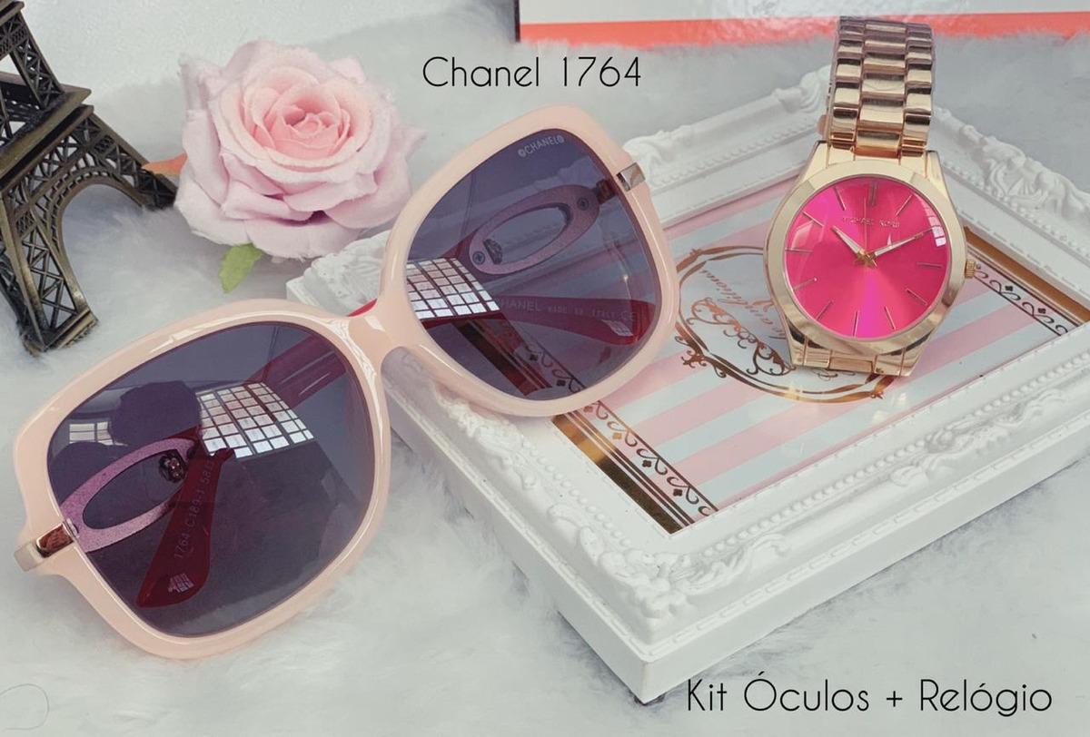 ed9c87dac Kit Óculos E Relógio Feminino - R$ 220,00 em Mercado Livre