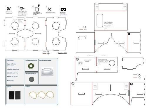google vr cardboard template pdf