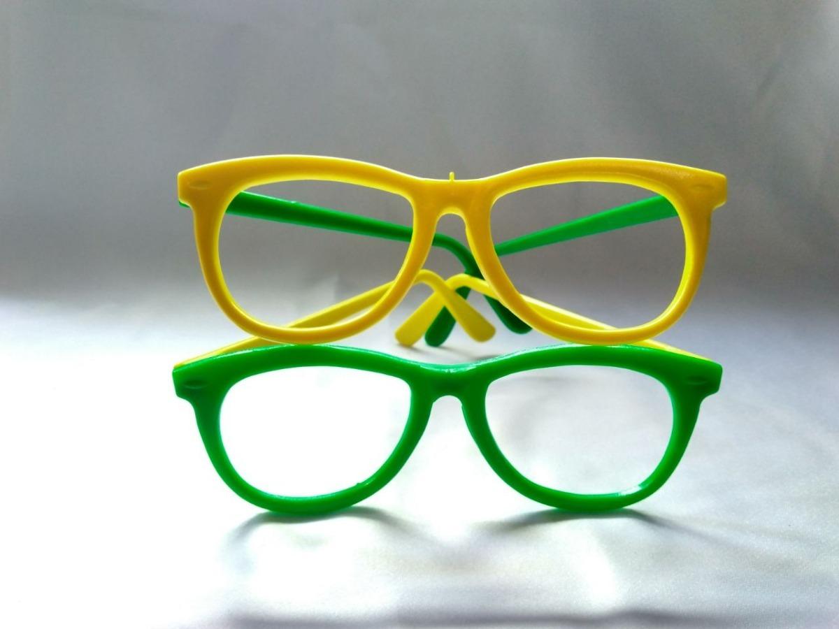 8bada5a4aa406 Kit Óculos Nerd Verde E Amarelo Copa Do Mundo C  20 Un - R  59,99 em ...