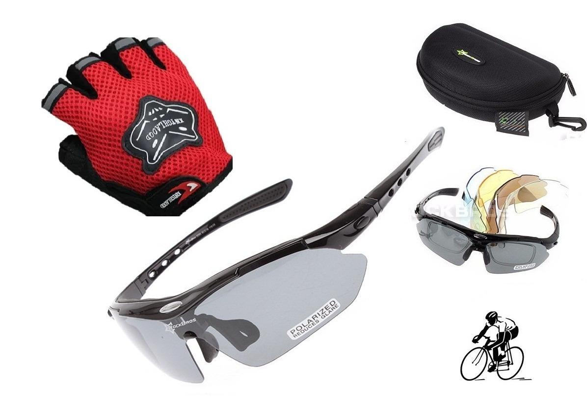 996655777ab3a kit óculos rockbros 5 lentes + luvas p bike - promoção. Carregando zoom.