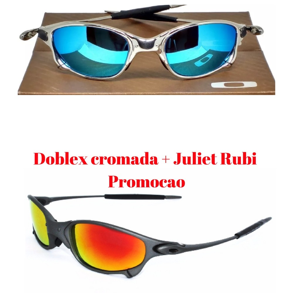 65f877ac4bd21 kit oculos sol doblex cromada + juliet rubi black friday. Carregando zoom.