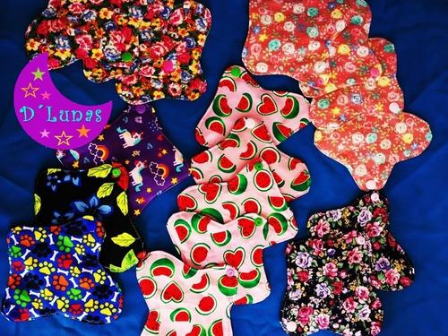 kit oferta 20 panti toallas ecológicas femeninas