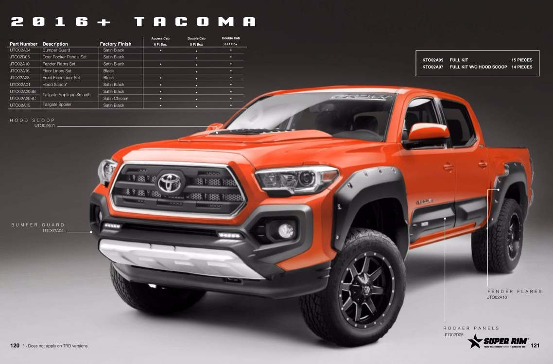 2017 Tacoma Lift Kit >> Kit Off Road Airdesign Toyota Tacoma 2016/17 Accesorios ...