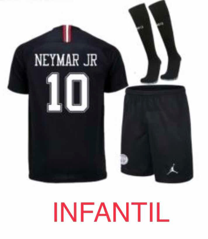 ea66c5bd8 kit oficial psg infantil neymar jr preto frete grátis. Carregando zoom.