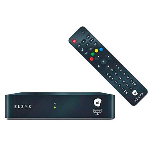 kit oi tv livre digital hd elsys completo + habilitação