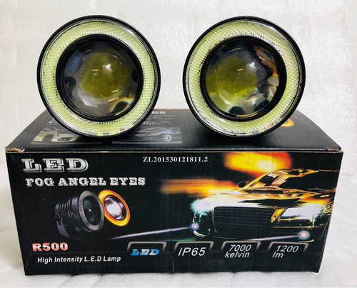 kit ojos de angel + lupas con led accesorios autos