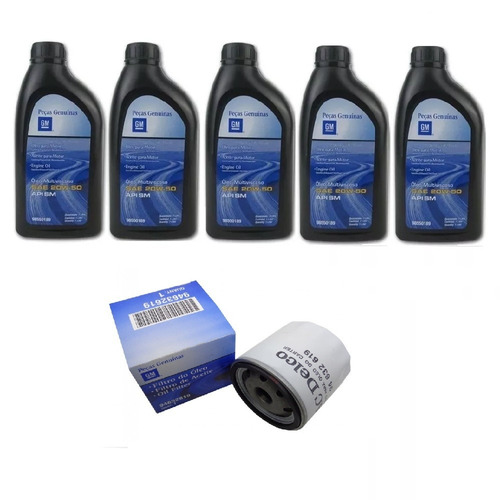 kit óleo 20w50 + filtro de óleo gm para astra vectra zafira
