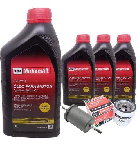 kit óleo 5w20 e filtros ford ka ecosport new fiesta