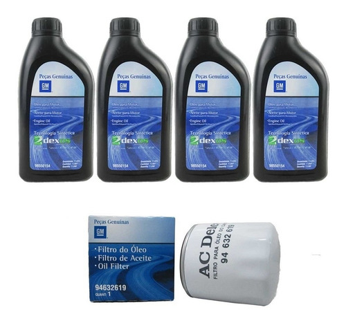 kit oleo 5w30 + filtro de oleo gm montana nova