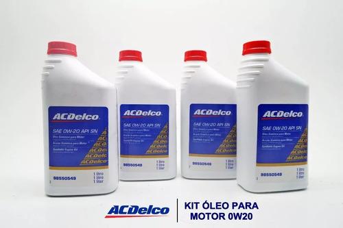 kit óleo acdelco sae 0w20 4l 98550549