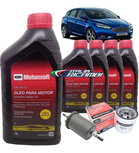 kit óleo motorcraft 5w20 filtros ford focus 2.0 direct flex