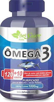 6f119d9a8 Kit Omega 3 Oleo De Peixe (fish Oil) 1g Bel Saude 390 Caps - R  120 ...