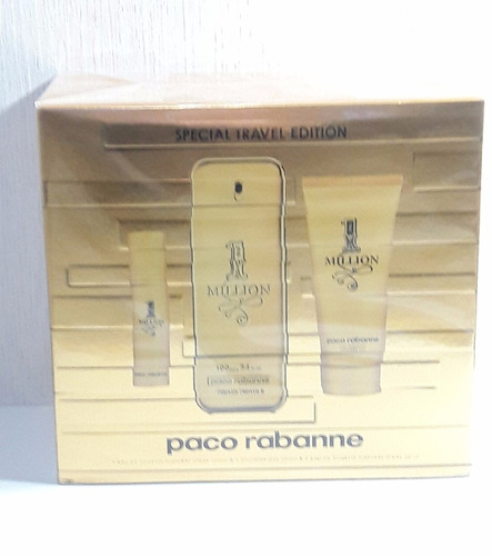 kit one million perfume 100 ml + gel de banho 100 ml +15 ml