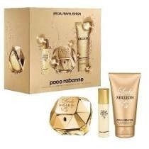 kit one million perfume+gel de banho+miniatura 15 ml.