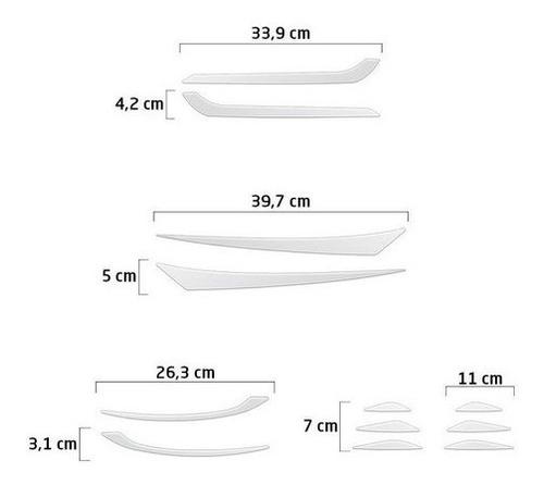 kit onix sedan 2020 adesivos aplique do para-choque farol