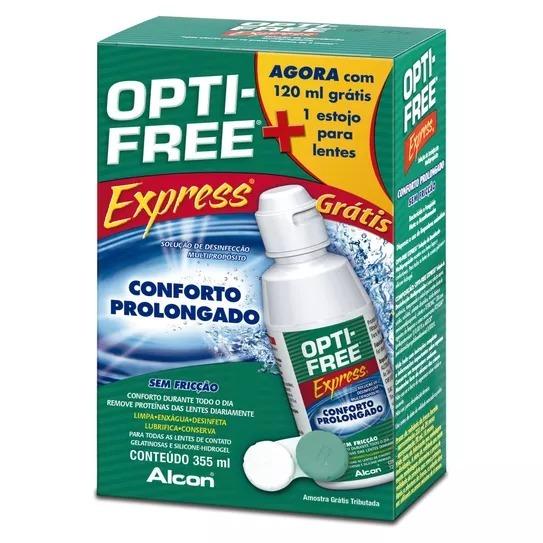 a222bd0d19 Kit Opti-free Express Sem Fricção 355ml + 120ml Alcon - R$ 62,24 em ...