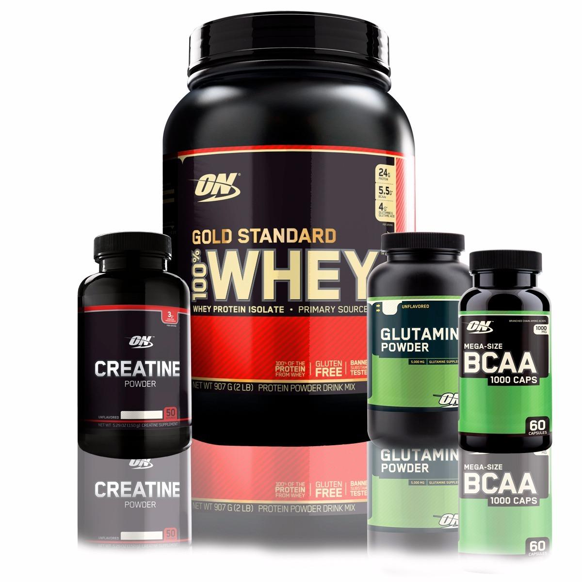69fd79056 kit optimum nutrition - gold isolado creatina bcaa glutamina. Carregando  zoom.