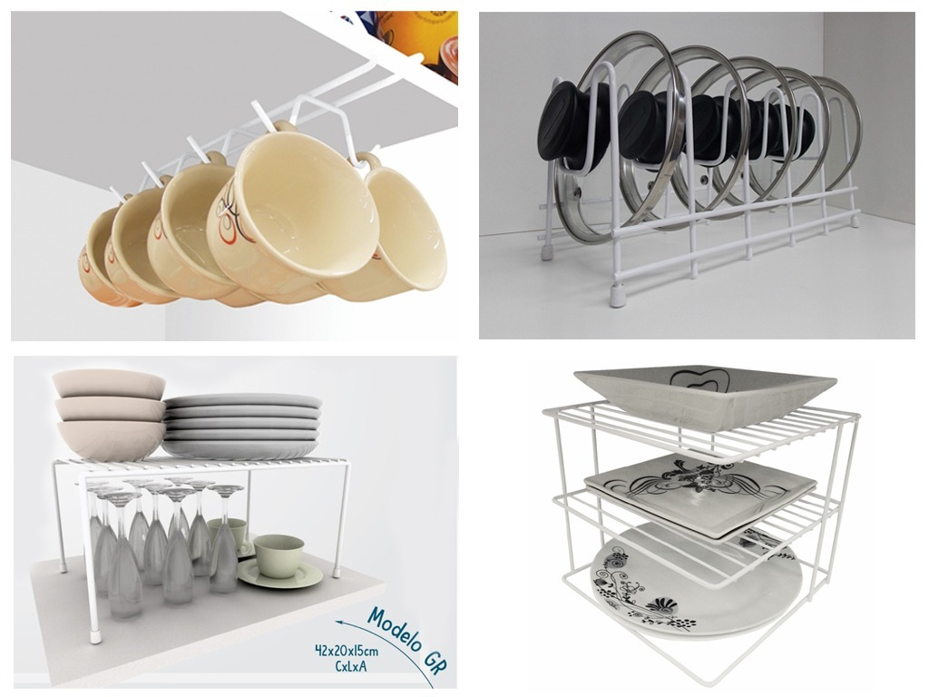 Kit organizador arm rio cozinha x cara panela prato a o 4 un r 120 00 em mercado livre - Organizador armarios ...