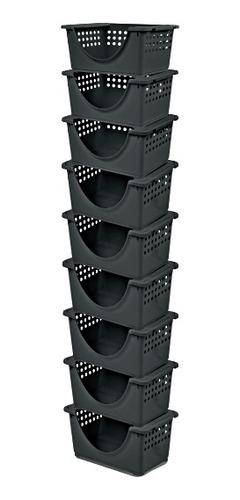 kit organizador empilhavel com 3 gavetas caixa guarda tudo m