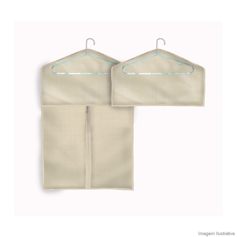 6ad021e97e kit organizador para roupa p m com duas capas nude boxmania. Carregando  zoom.