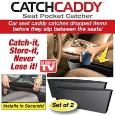 kit organizador porta treco e objetos para carro automotivo para taxi e uber catch caddy com 2 unidades