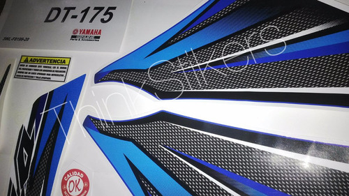 kit original calcomanias dt 175 yamaha