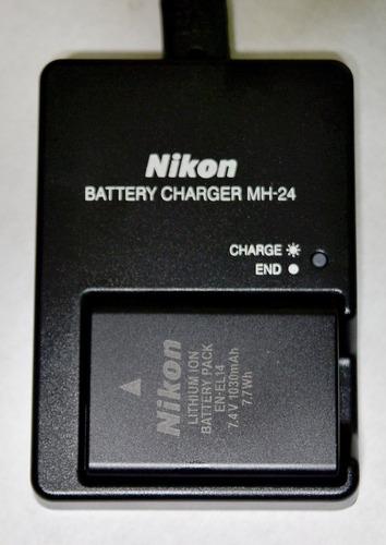 kit original nikon de bateria en el 14 y cargador mh-24