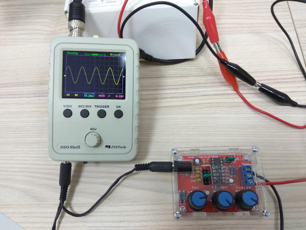 Circuito Xr2206 : Kit osciloscópio digital dso gerador de funções xr r