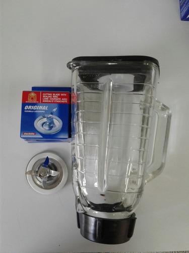 kit oster, vaso acrilico y cuchilla marca original.