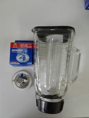 kit oster, vaso acrilico y cuchilla marca original.mito 73
