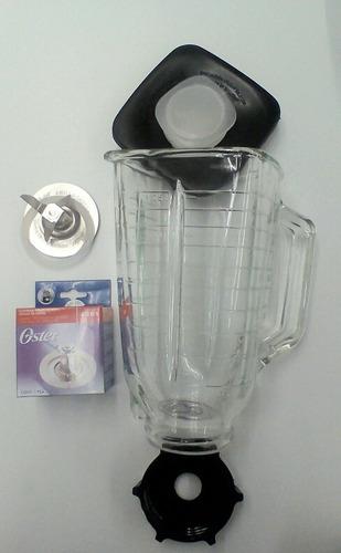 kit oster vaso plástico transparente