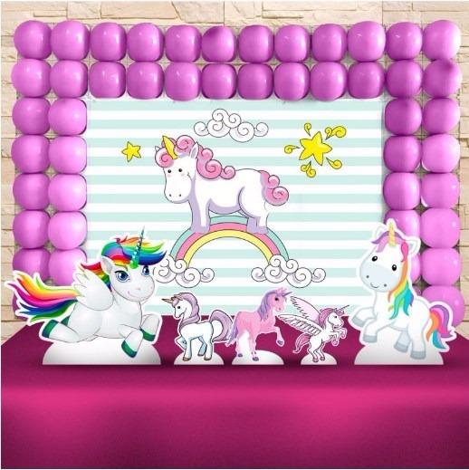 Kit Ouro Decoraç u00e3o Festa Infantil Cavalo Unicornio Promoç u00e3o! R$ 85,00 em Mercado Livre -> Decoração De Festa Unicórnio Infantil