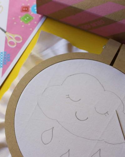 kit p/ bordar coser y crear  juego didáctico de diseño