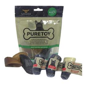 Kit P/ Cães Mordedores Naturais Puretoy 3 Cascos+ 3 Chifres