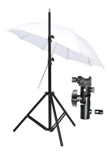 kit p/ foto estudio columna 190cm rotula sombrilla visico