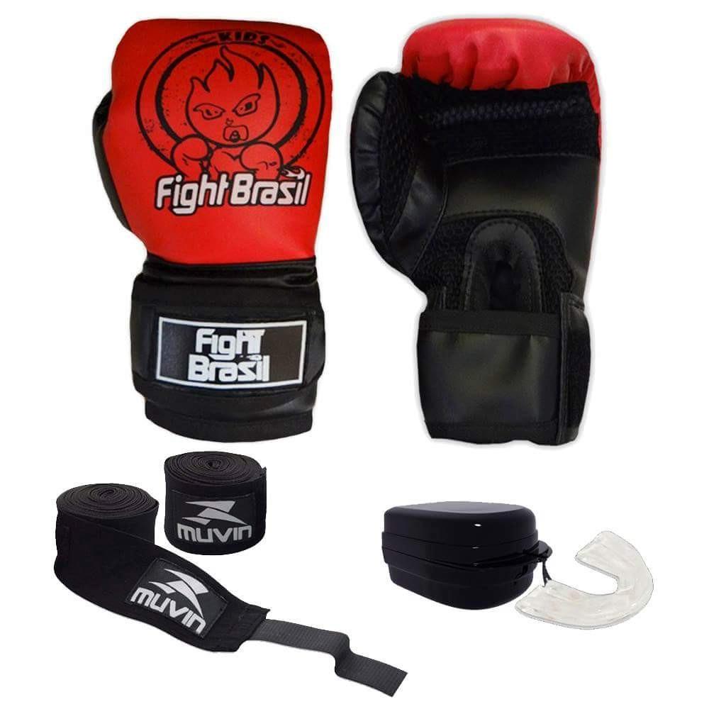 7c5c1d20c kit p  muay thai boxe luva bandagem bucal infantil criancas. Carregando zoom .