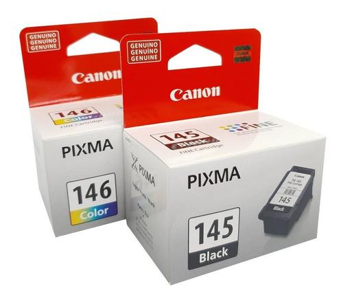 kit pack cartuchos originales canon pg 145 y cl 146 oferta